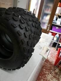 Full set of quad bike tyres 2 x 255/50/10 + 2 x 175/75/10