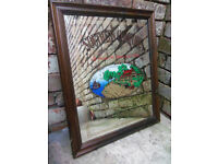 Breweriana man cave - Vintage advertising pub mirror Southern Comfort W 50 H 60cm
