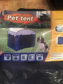 Pet tent / fabric crate