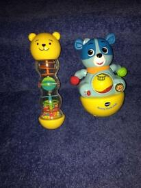 Vtech rolling cody & grow and play shaker