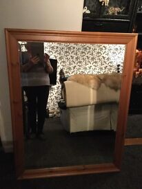 Large Chester pine mirror