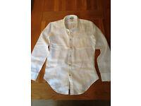 GAP Men's White Linen Shirt (Large) (never worn)