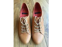 Women's Vagabond Leather Tan Lace-ups Brand New Size 36