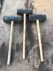 Paving large rubber sledgehammer