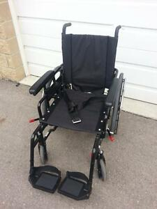 "#001  18"" wide  Maple Leaf NRG+ GOLD  Manual Folding Wheelchair for ONLY $250"