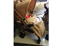My babiie gold edition stroller new