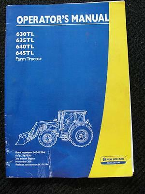 New Holland 630tl 635tl 640tl 645tl Farm Tractor Operators Manual Good Shape