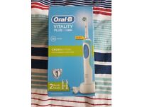 Oral B vitality plus electric toothbrush.