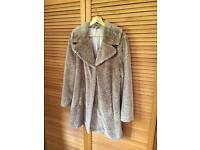 Faux Fur Coat M&S Size 16