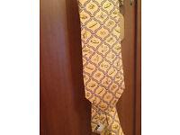 Premium silk yellow/cream french tie
