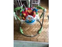 Rainforest jumparoo - great condition - baby bouncer toy
