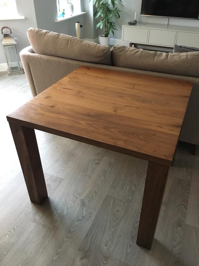 IKEA Djursta Walnut Table 90x90cm New Was 200