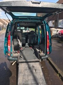 Renault kango mobility car wheel chair access and mobility scooter long mot still taxed