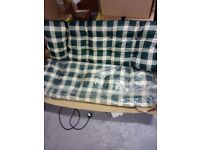 Replacement Cushions  for Garden Swing or Bench Seat + Backrest garden chair 4 seater cushion bench
