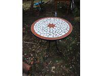 Beautiful mosaic garden table