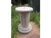 Fibreglass & Latex Mould to make a Classical Fluted Column Plant Stand