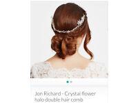 John Richard - Crystal Flower Halo Double Hair Comb