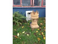 2 Crown Chimney Pots
