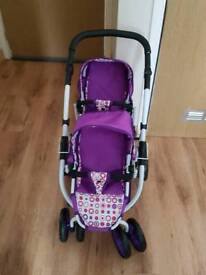 Purple Double Pushchair