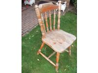 shabby chic project ~ SOLID WOOD FARMHOUSE KITCHEN CHAIR