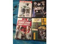 For sale 9 football DVDs some unopened