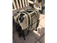 Korum lightweight chair and ITM rucksack