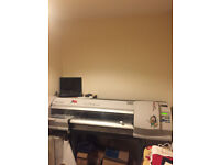 Roland SP300 printer cutter, cutter (plotter) is fully working, printer is spares repairs