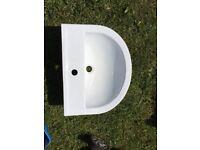 IVO large basin 1 tap hole sink basin and pedestal