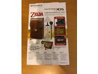 Zelda Nintendo DS 3DS case with accessories