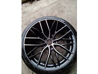 20 Inch F30 Sport style wheels 5x120 black polished face.