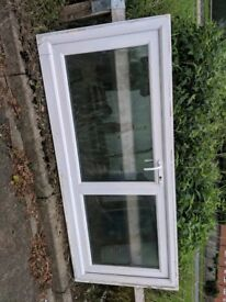 Double glazed glass panel upvc door
