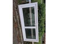 Double glazed glass panel upvc door