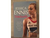 Jessica Ennis, Unbelievable. biography. Hard Back book. Perfect condition