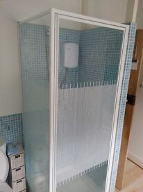 Shower Cubical and low level tray.