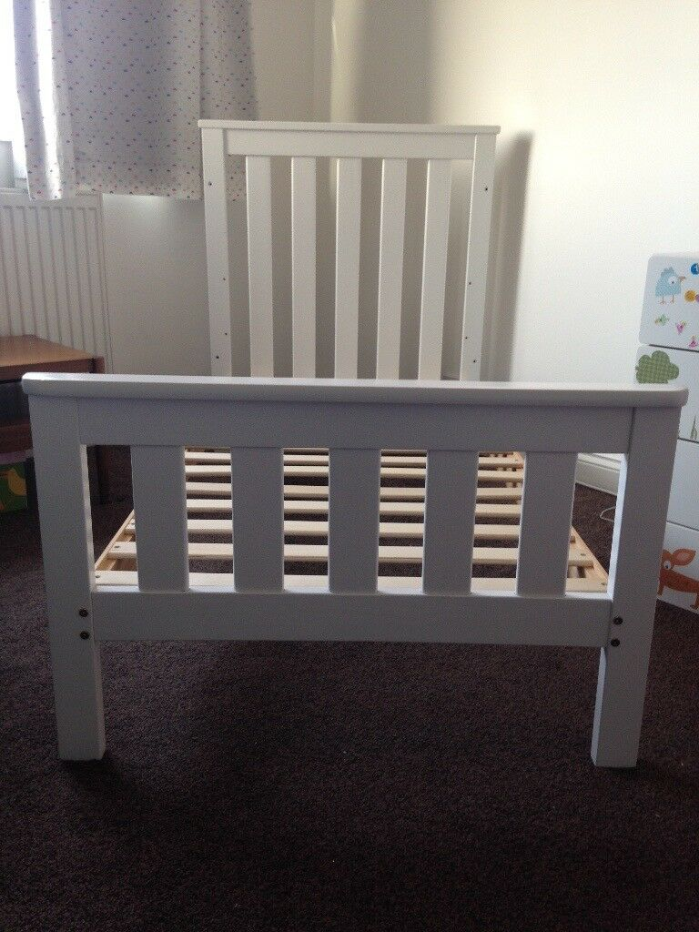 "White Cot Bed, Mothercare ""Jamestown"" 170cm x 140cm"