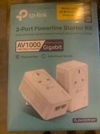 2 port powerline starter kit gigabit