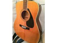 Vintage Yamaha Acoustic Guitar, plus stand