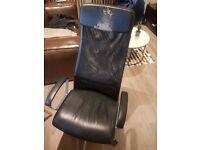 Black Leather office swivel chair (Ikea MARKUS)