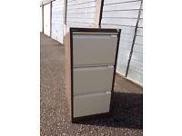 Bisley 3 drawer filing cabinet - no key