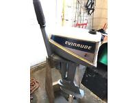 Evinrude 4hp outboard engine / boat / fishing