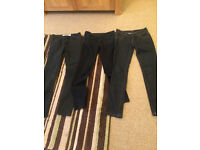 LADIES SKINNY JEANS BLUE AND BLACK - SIZE 6/ 8/10