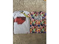 New with tags boys Age 8/9 t shirts