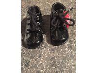 Babies size 18(2) black kickers excellent condition