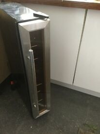 Under counter wine cooler