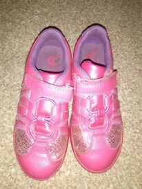 Clarks light up shoes pink trainers size 10 1/2 trainers