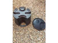 Water butt stand base and lid cover