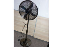 "LOGIC 16"" GUN METAL PEDESTAL FAN"