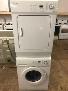"Samsung 24"" Wide Apartment Size Stackable Washer and Dryer Matching Set"