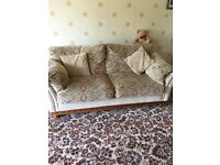 3 piece suite (settee, 2 x armchairs and stool)