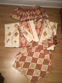 Matching Curtains, Pelmet, Tie Backs & Cushion Covers